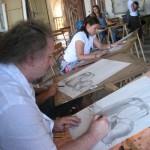 Prizor iz poletne slikarske šole Rudolfa Španzla Chioaroscuro, 2014. Foto: Tone Tavčar